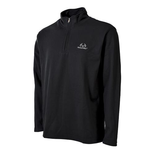 Men's 1/4 Zip Fleece Top, Black, swatch