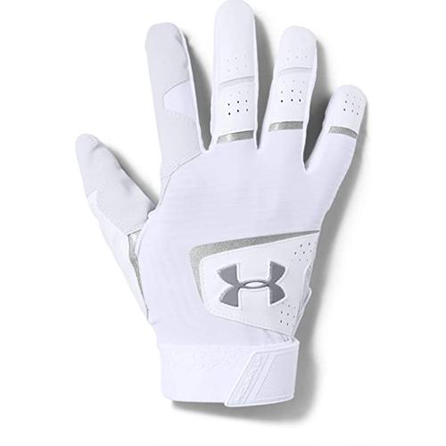 Men's Clean Up Baseball Gloves, White, swatch