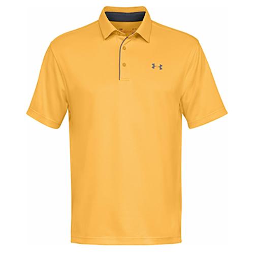 Men's Tech Golf Polo Shirt, Orange, swatch