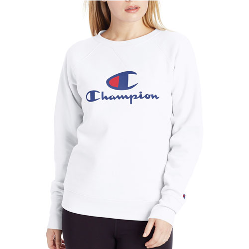 Women's PowerBlend Large C Graphic Crew Pullover, , large