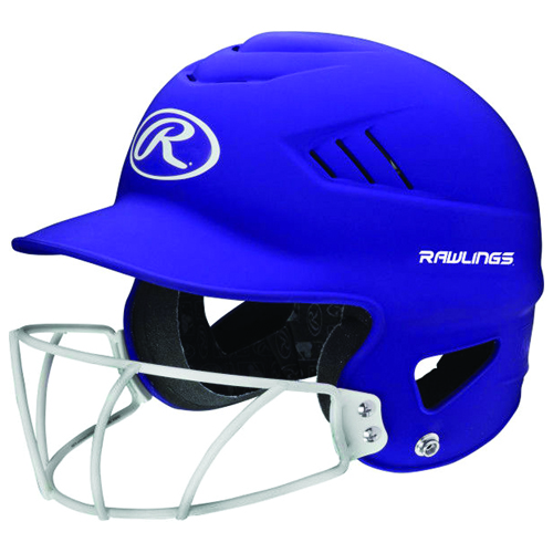 Highlighter Fastpitch Batting Helmet With Mask, Purple, swatch