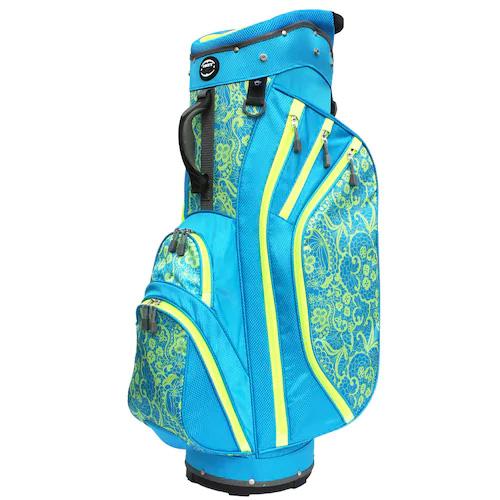 Women's Cart Golf Bag, Black/Lime Green, swatch