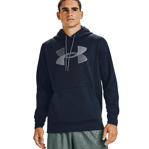 Men's Armour Fleece Big Logo Hoodie, Navy, swatch