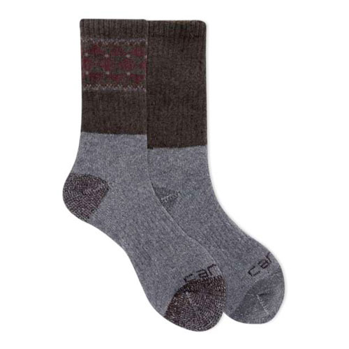 Wool Blend Crew Socks 4-Pack, Purple, swatch