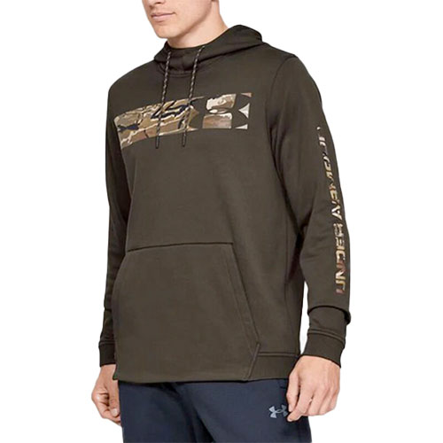 Men's Hunt Armor Fleece Hoodie, Brown, swatch