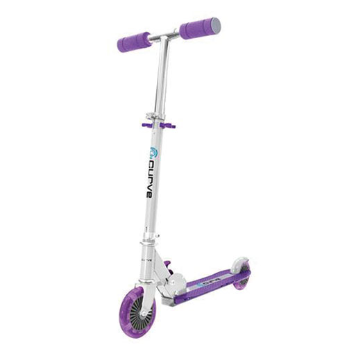 Light Up 2-Wheel Scooter, Purple, swatch