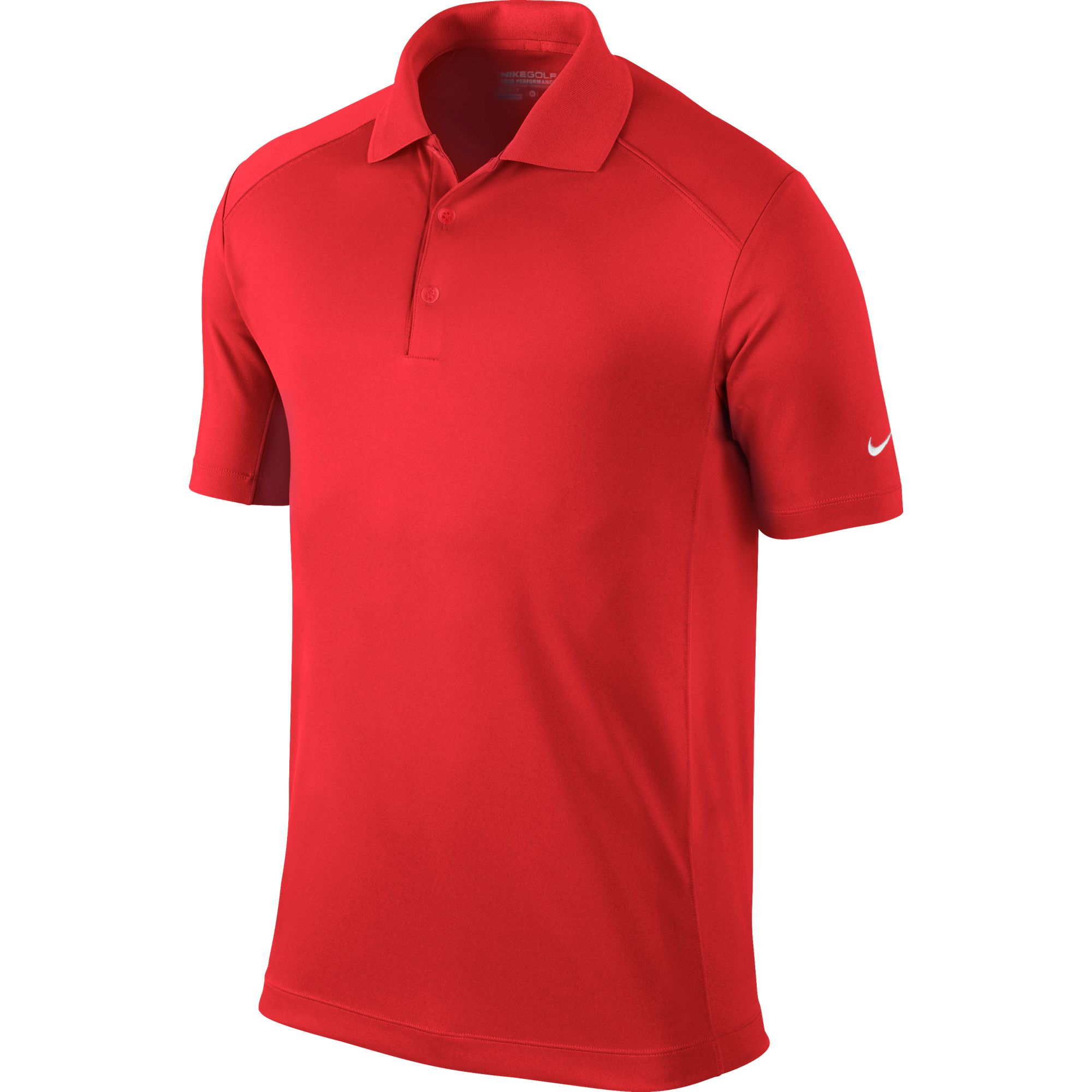Men's Victory Solid Polo Golf Shirt, Red, swatch