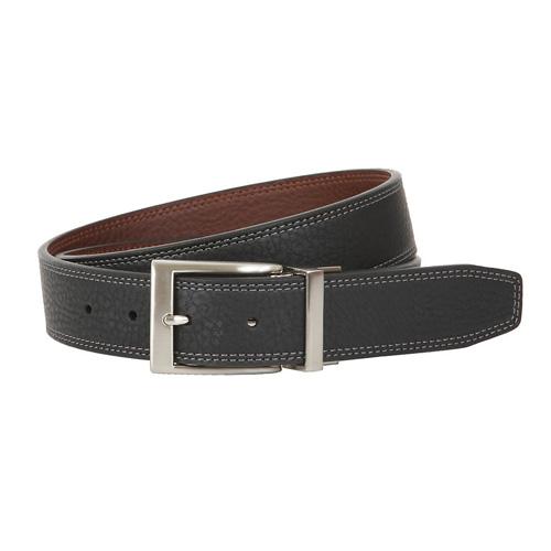 Men's Classic Reversible Golf Belt, Black/Brown, swatch