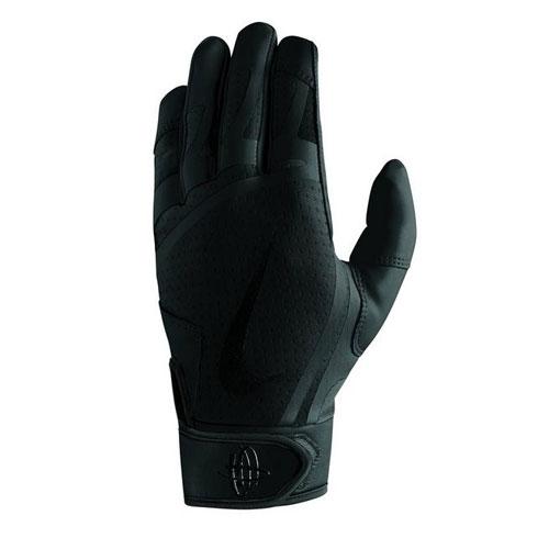 Youth Huarache Edge Batting Glove, Black, swatch