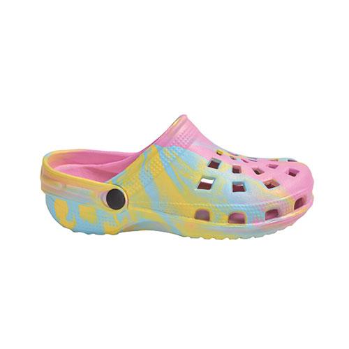 Girls' EVA Tie Dye Clog, Pink, swatch