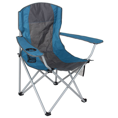 Oversized Arm Chair, Blue/Gray, swatch