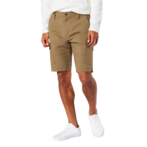 Men's Straight Fit Cargo Shorts, Heather Gray, large