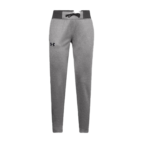 Girls' Armour Fleece Pants, Heather Gray, swatch