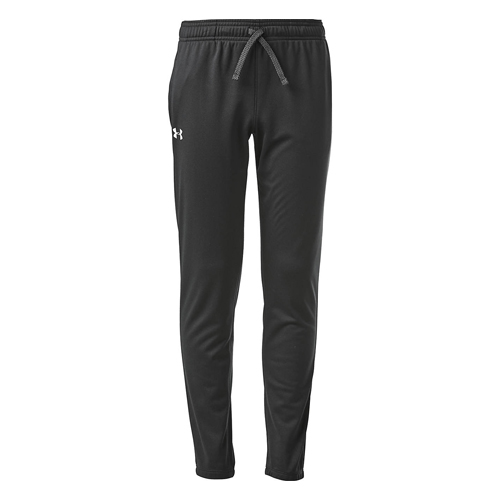 Girls' Armour Fleece Pants, Black, swatch