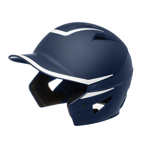Senior HX 2-Tone Matte Batting Helmets, Navy/White, swatch