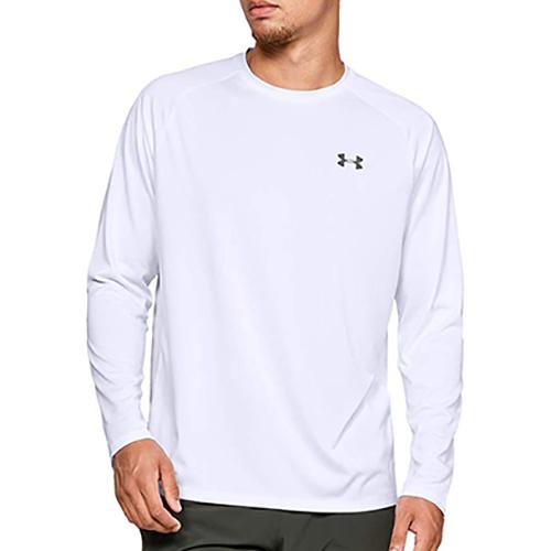 Men's Long Sleeve Tech 2.0 T-Shirt, White, swatch