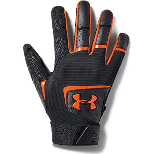 Men's Clean Up Baseball Gloves, Black/Orange, swatch