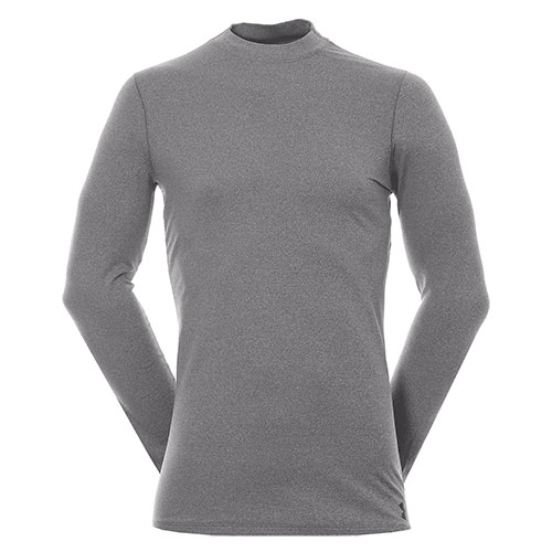 Men's Long Sleeve ColdGear Armour Mock Neck Shirt, Charcoal,Smoke,Steel, swatch