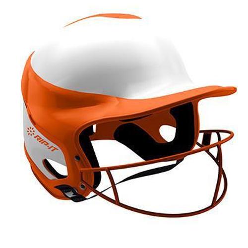 Vision Pro Softball Helmet With Mask, Orange, swatch