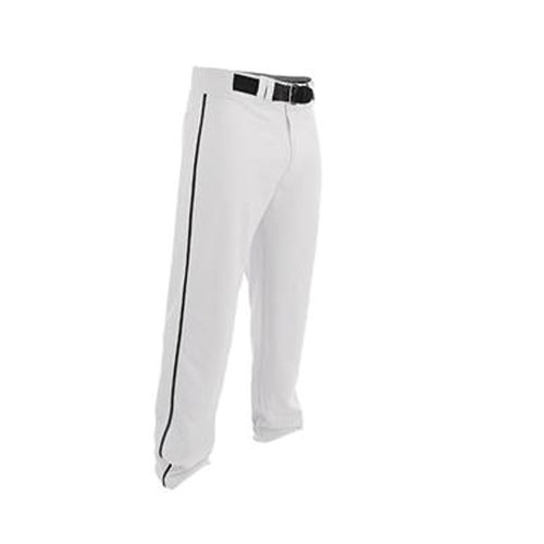 Youth Rival 2 Piped Baseball Pants, White/Black, swatch