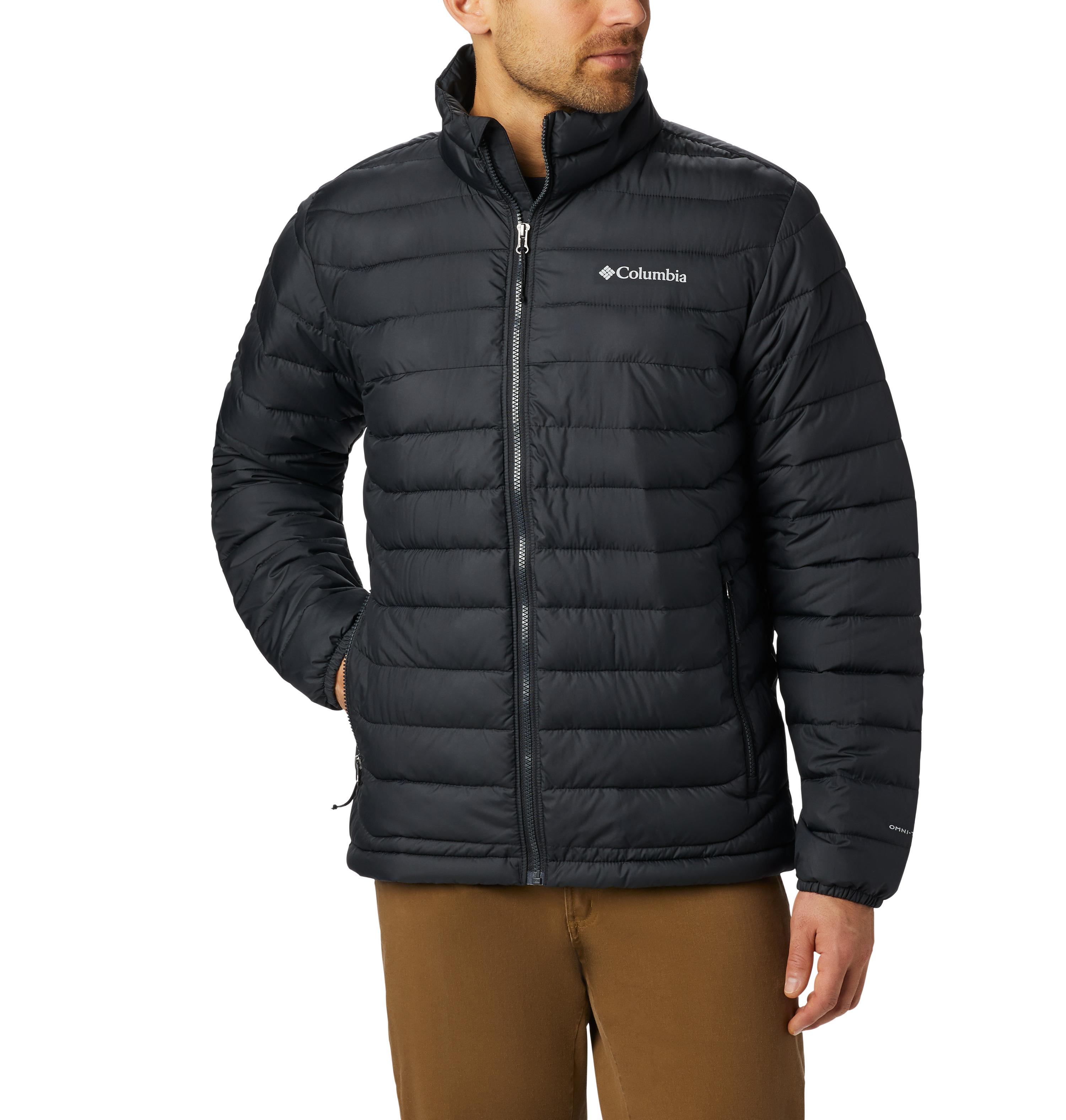 Men's Powder Lite Ski Jacket, Black, swatch