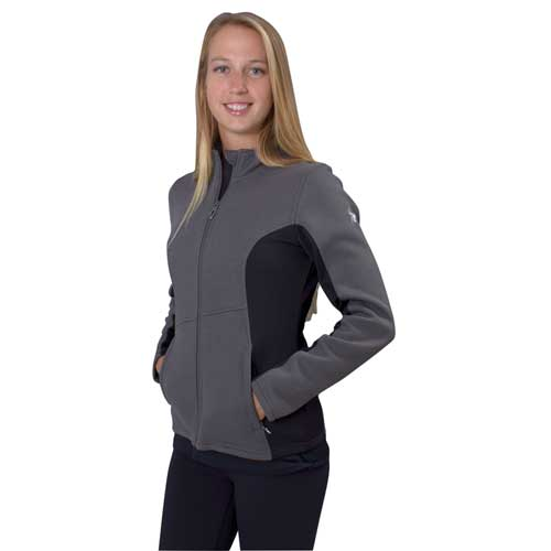 Women's Cora Full Zip Fleece, Charcoal,Smoke,Steel, swatch
