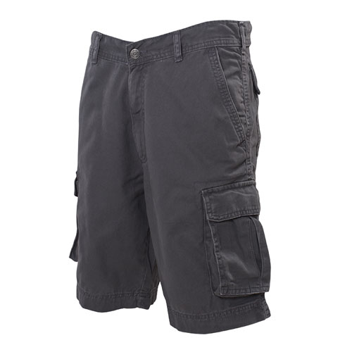 Men's Twill Cargo Shorts, Heather Gray, swatch