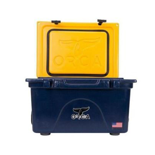 26qt Roto-molded Cooler, Navy/Gold, swatch