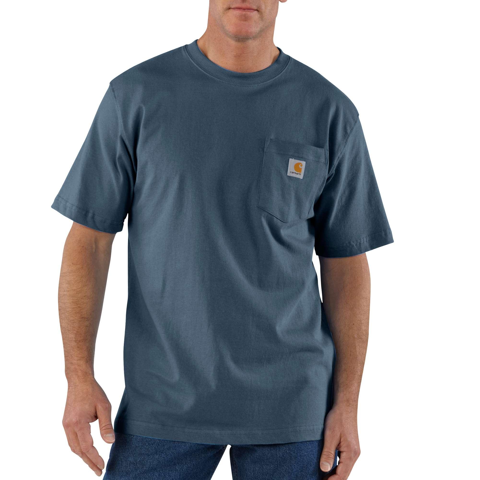 Men's Workwear Pocket Tee, Blue, swatch