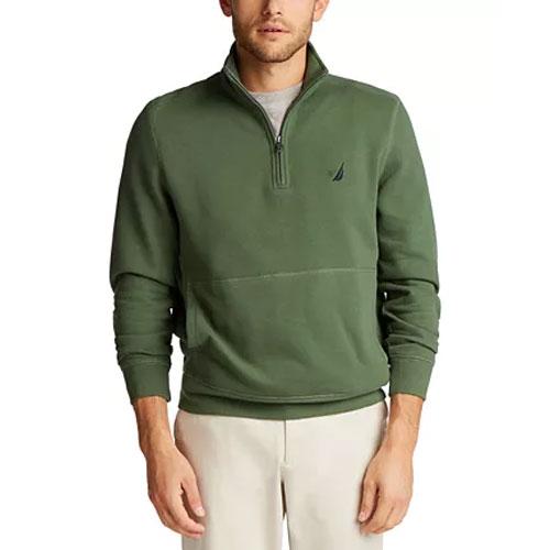Men's 1/4 Zip Fleece, Dkgreen,Moss,Olive,Forest, swatch