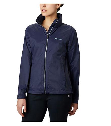 Women's Switchback III Hooded Packable Jacket, Navy, swatch