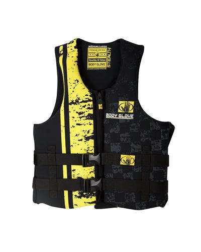 Stealth Neoprene Vest, Black/Yellow, swatch