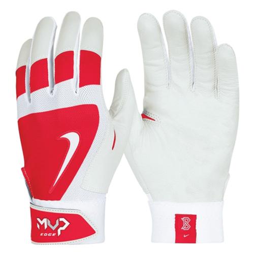 Men's MVP Edge Batting Gloves, Red, swatch