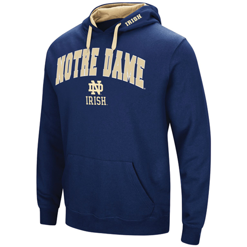 Men's Notre Dame Tackle Twill Hoodie, Team, swatch