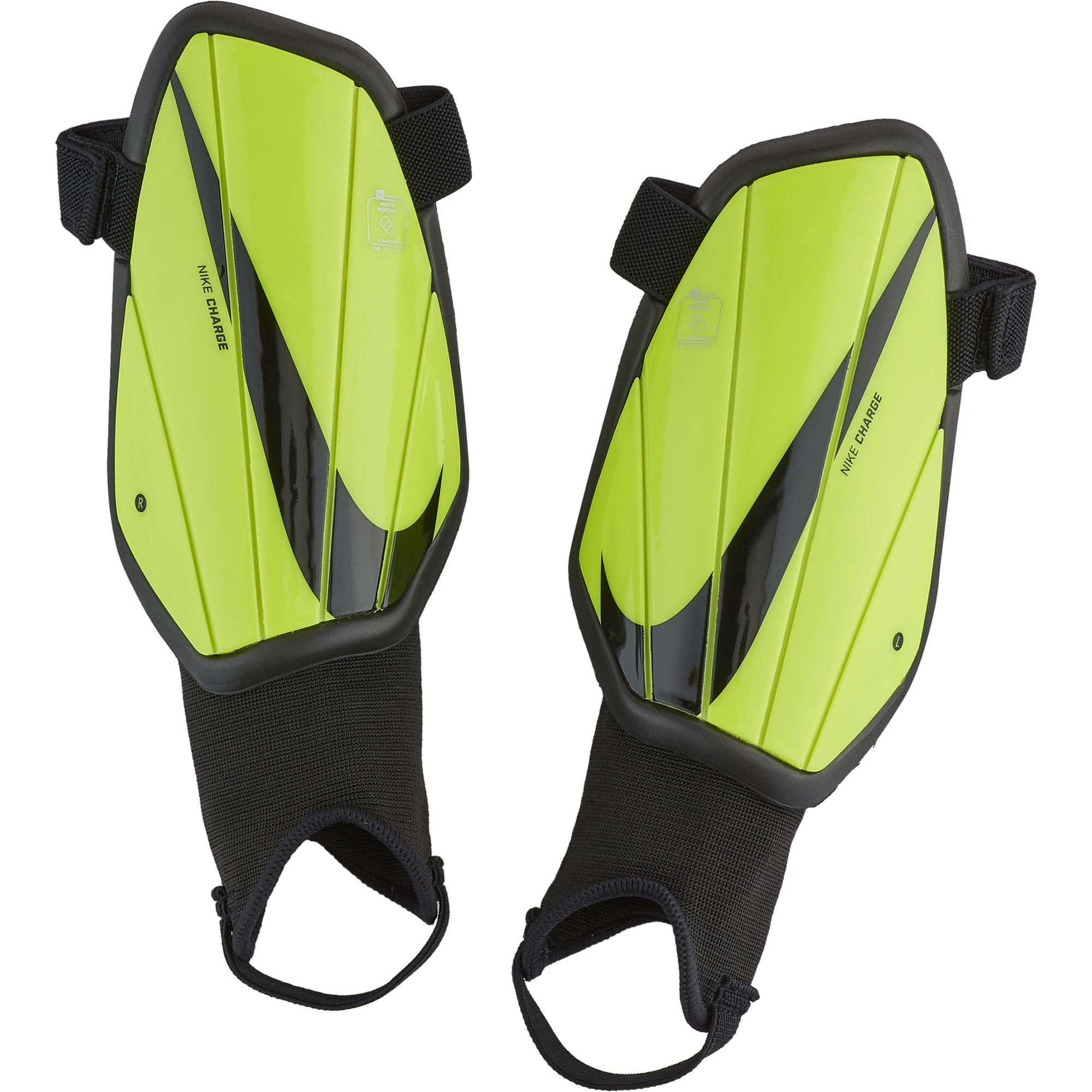 Youth Charge Shin Guards, Yellow/Black, swatch