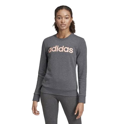 Women's Essentials Linear Training Sweatshirt, Heather Gray, swatch