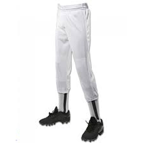 Youth Pull-Up Baseball Pants, White, swatch