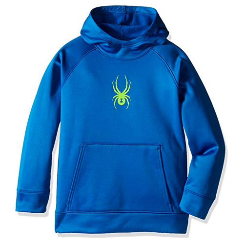 Boy's Logo Basic Fleece Pullover Hoodie, Blue, swatch