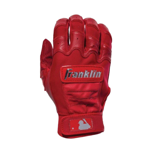 Men's MLB CFX Chrome Batting Gloves, Red, swatch