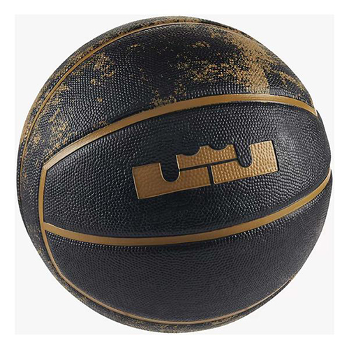 Lebron Official Basketball, Black/Gold, swatch
