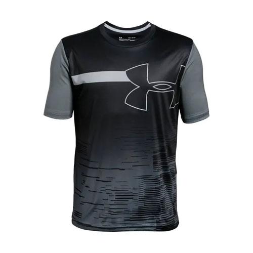 Boys' Sun Armour T-Shirt, Black, swatch