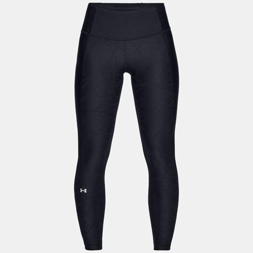 Women's HeatGear Armour Jacquard Ankle Crop, Black, swatch