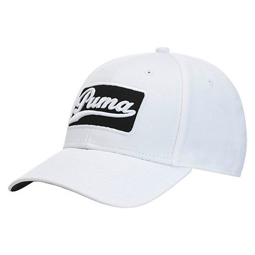 Greenskeeper Adjustable Golf Cap, White/Black, swatch