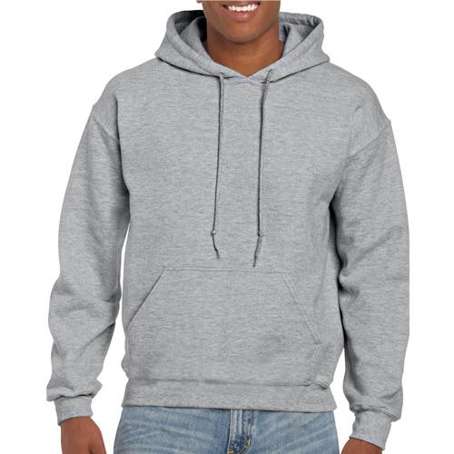 Men's Extdended Sizes Long Sleeve Hoodie, Gray, swatch