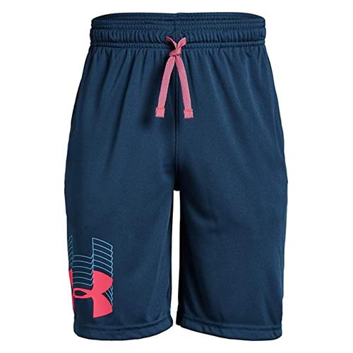 Boys' Prototype Logo Shorts, Navy, swatch