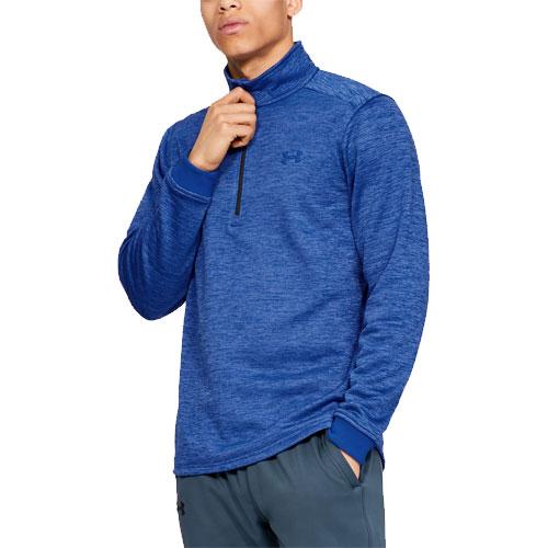 Men's Long Sleeve Armour Fleece Icon 1/4 Zip, Blue/Black, swatch
