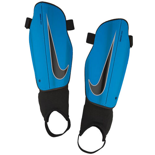 Youth Charge Shin Guards, Blue/Black, swatch