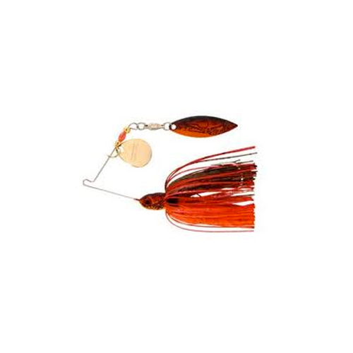 Pond Magic Real Craw Sunrise Spinbait, Red, swatch