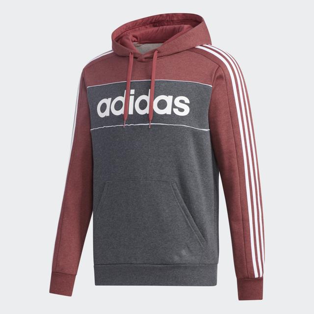 Men's Essentials Hooded Sweatshirt, Red, swatch