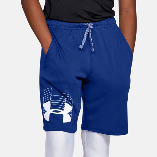 Boys' Prototype Logo Shorts, Blue, swatch